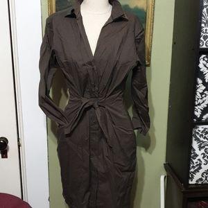 Tahari wrap-style dress